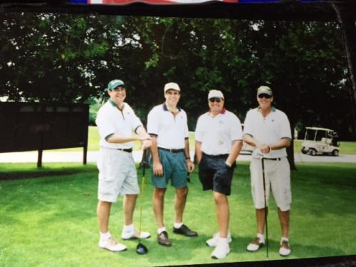 Jim, Joe, Jeff and John Walsh.10th tee.CCC
